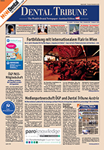 "Dental Tribune 12-2013 Titelseite ""paroknowledge Medienpartnerschaft"""