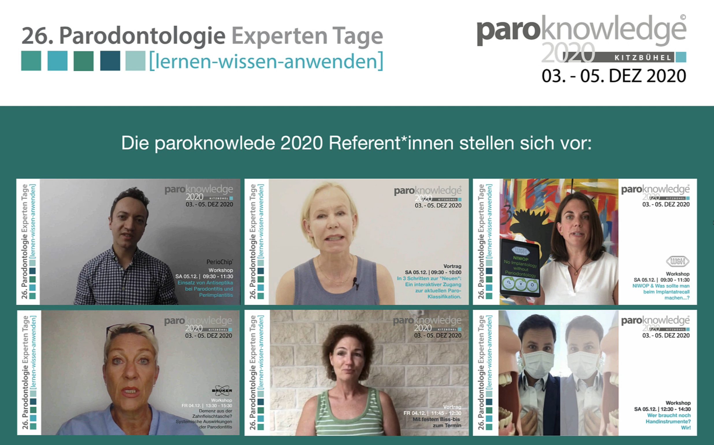 Intro Videos der paroknowledge Referent*innen
